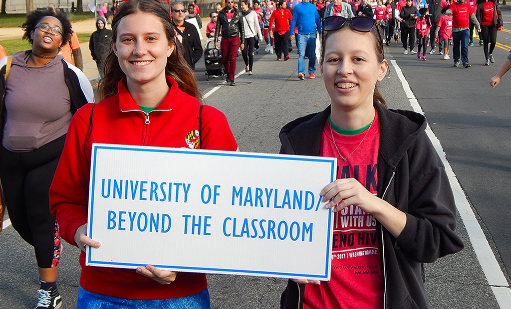 Beyond the Classroom students March